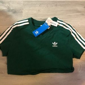 Adidas stripes cropped top